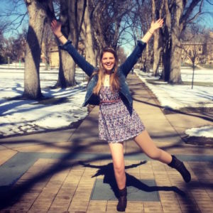 Allyson Hannah poses for a photo in the CSU oval