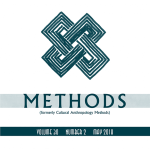 The cover of Field Methods Volume 30, Number 2
