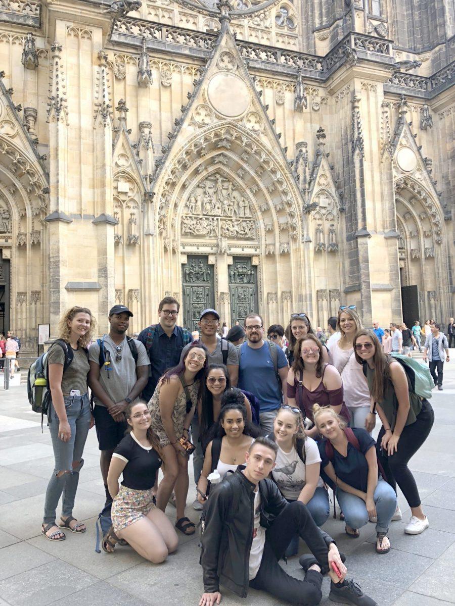 CSU students in Prague