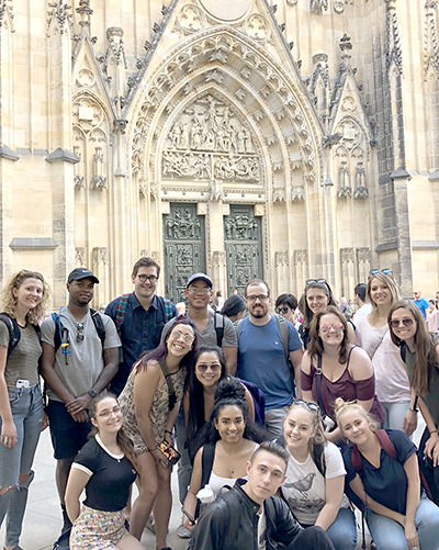 study abroad students in Prague