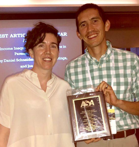 Hastings receiving award