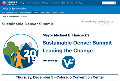 Sustainable event sreenshot