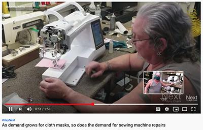 Bob sewing