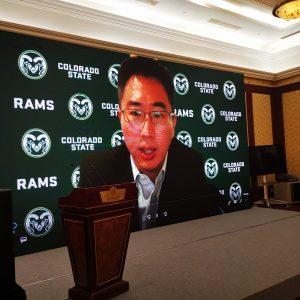 KuoRay Mao presenting virtually
