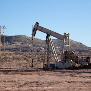 oil rig in field