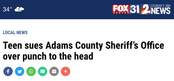 KDVR screenshot of headline