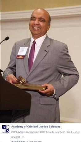 Prabha accepting ACJS honor