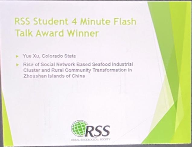 RSS award ceremony screenshot